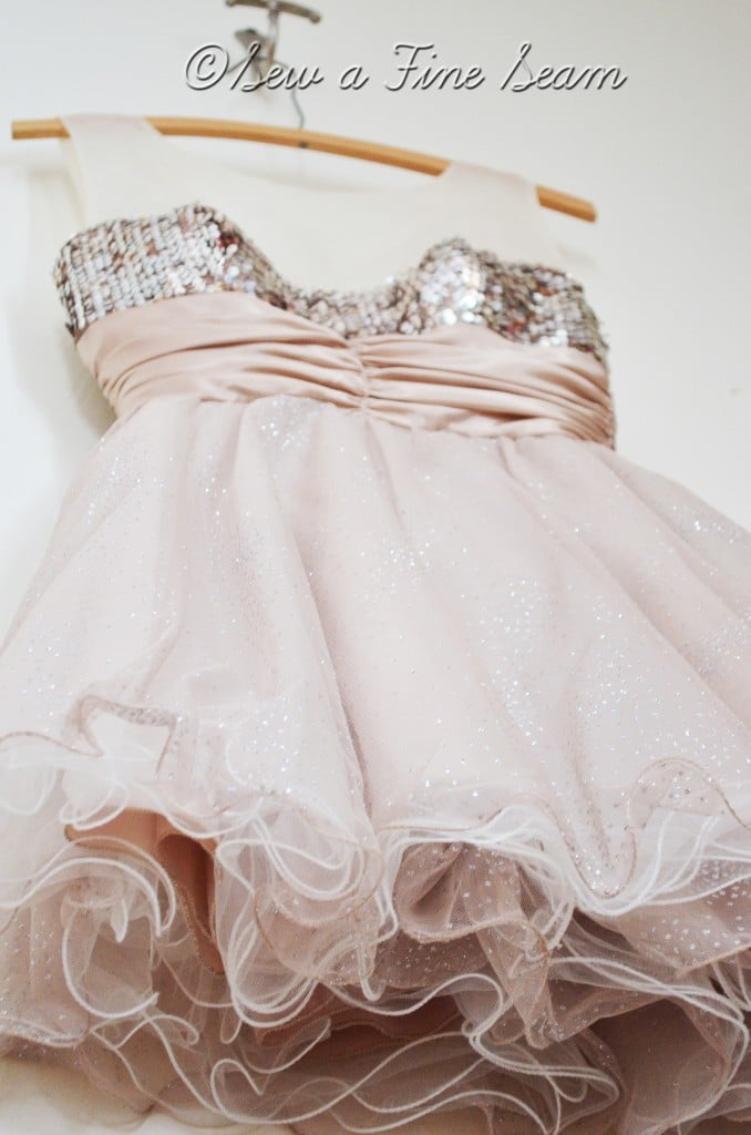 altering a homecoming dress