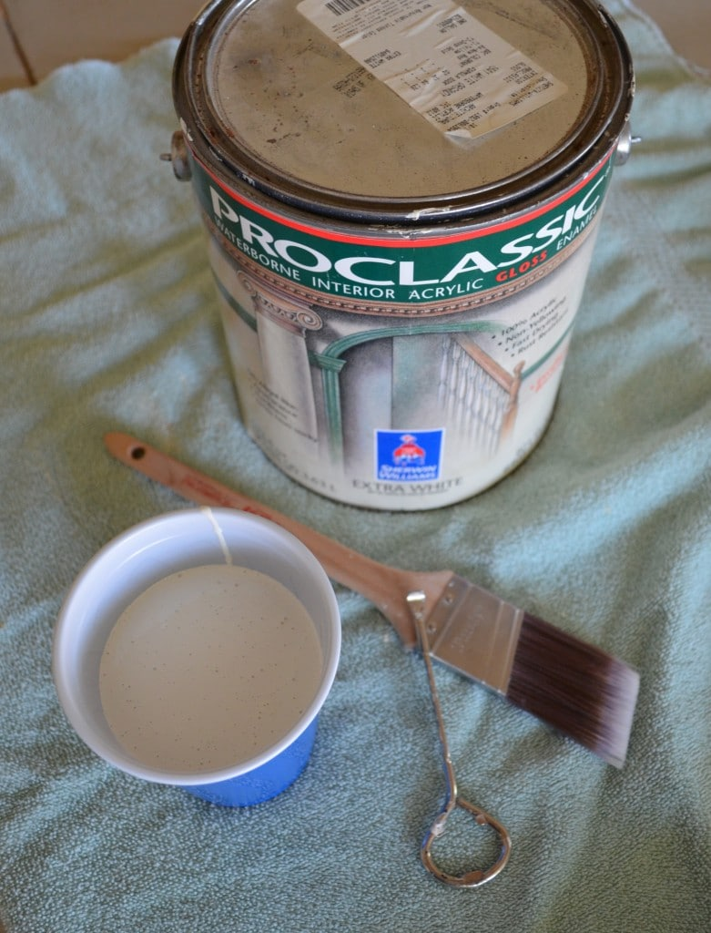 paint used to paint front boards of stairway