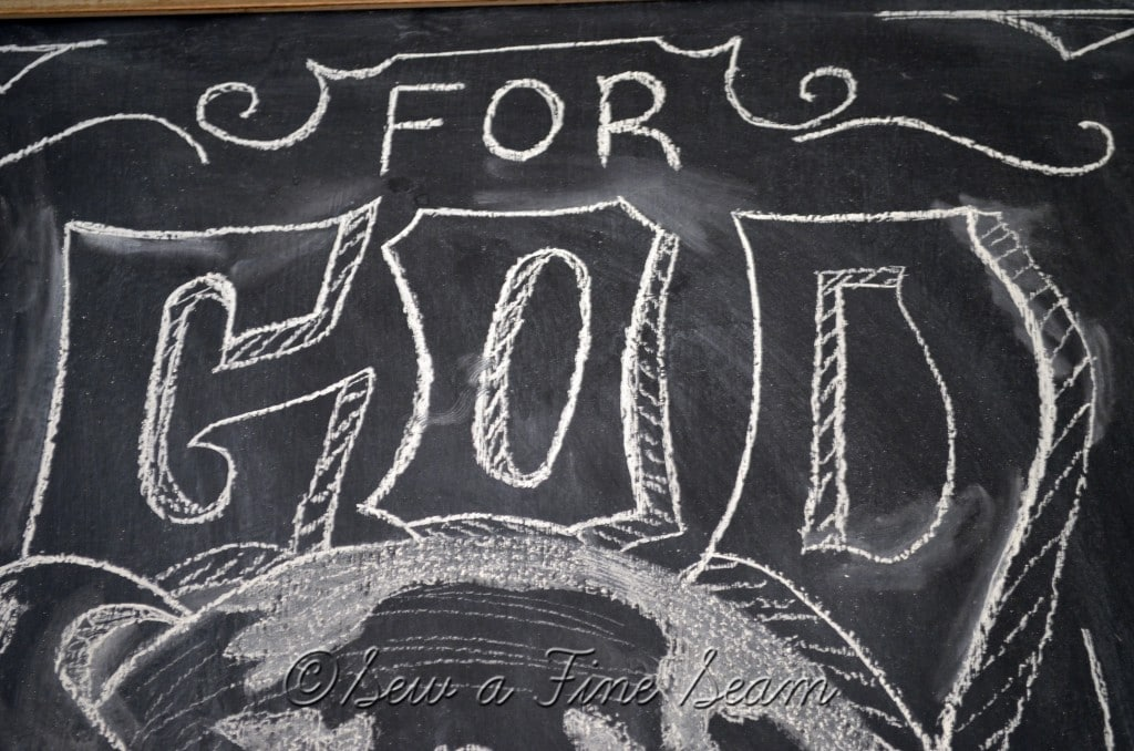 chalkboard art for christmas