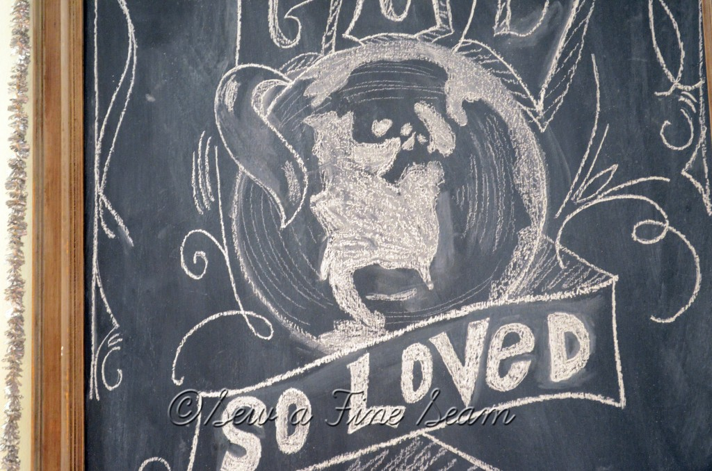 chalkboard art for Christmastime
