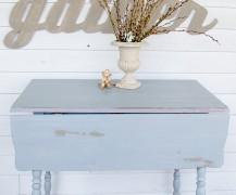 milk painted table