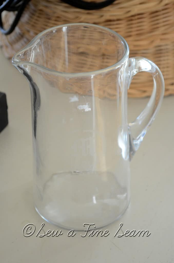 monogrammed water pitcher