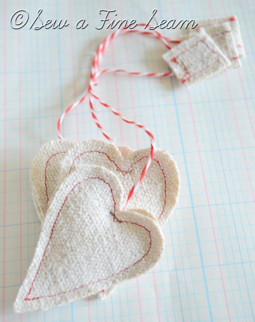 white grain sack heart tea bags 2