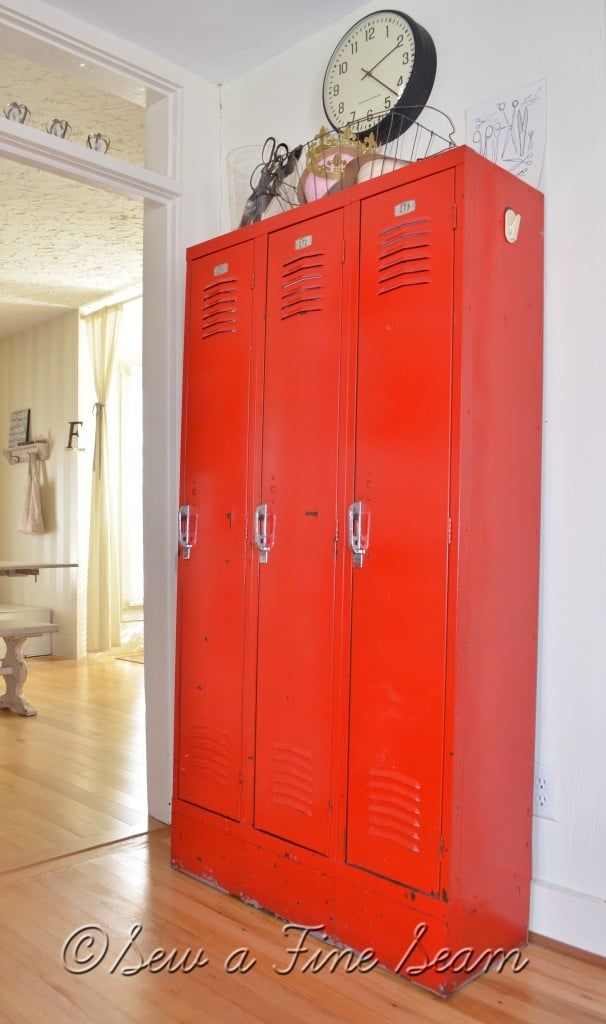 lockers are great storage solutions in place of closets in old houses