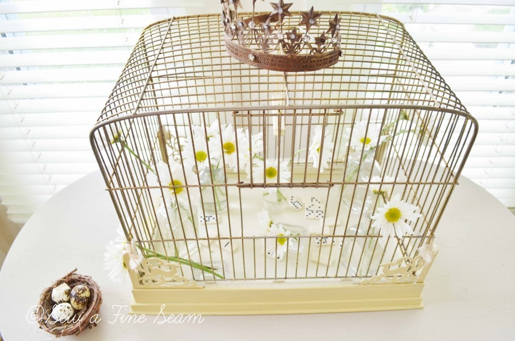 bird cage with daisys 4