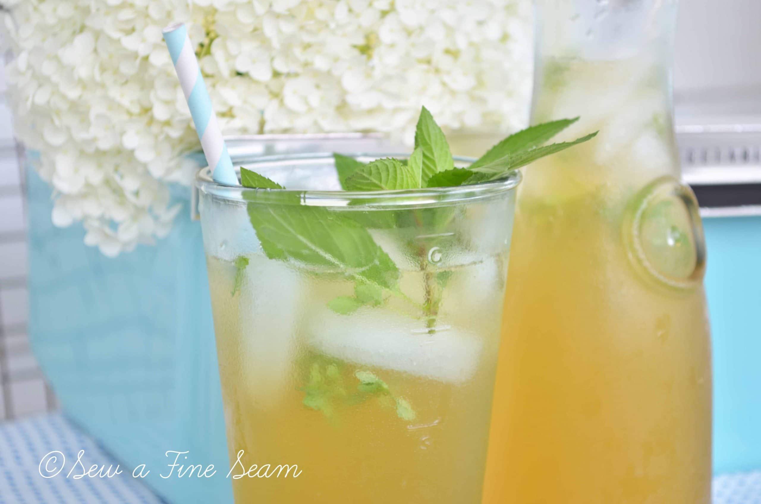 Sweet Tea with Lemonade and Basil