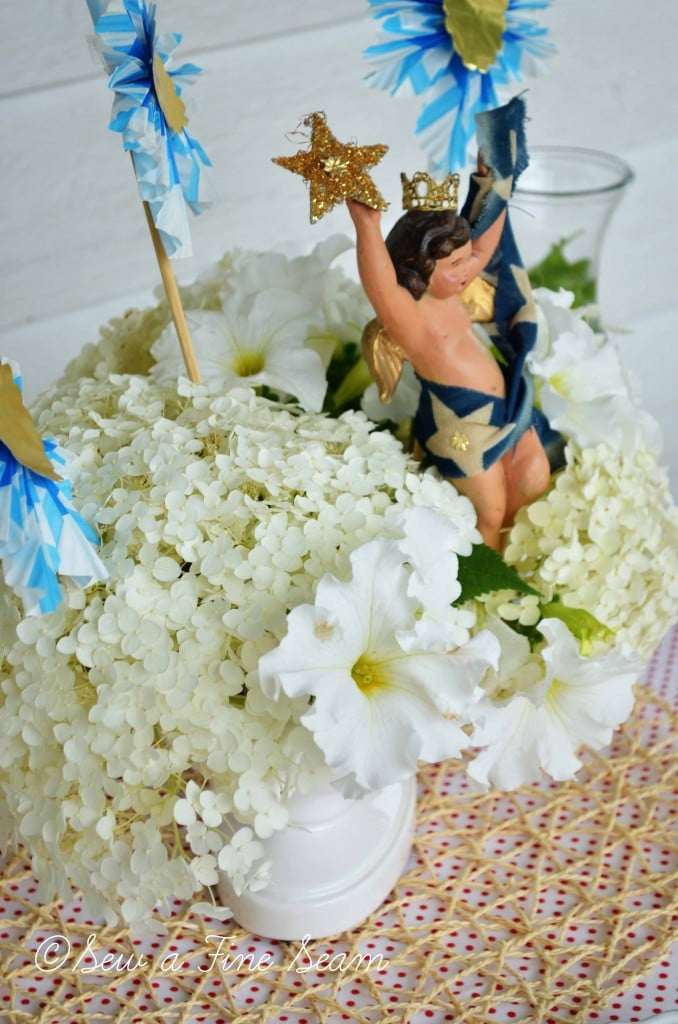 independence day tablescape centerpiece