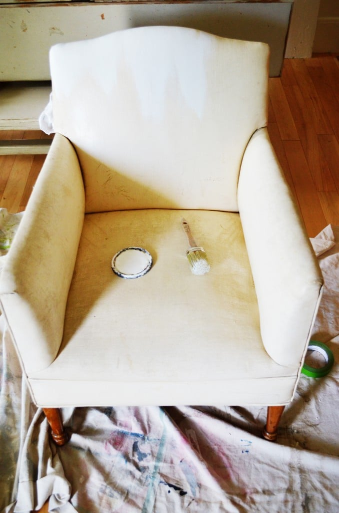 painted chair before