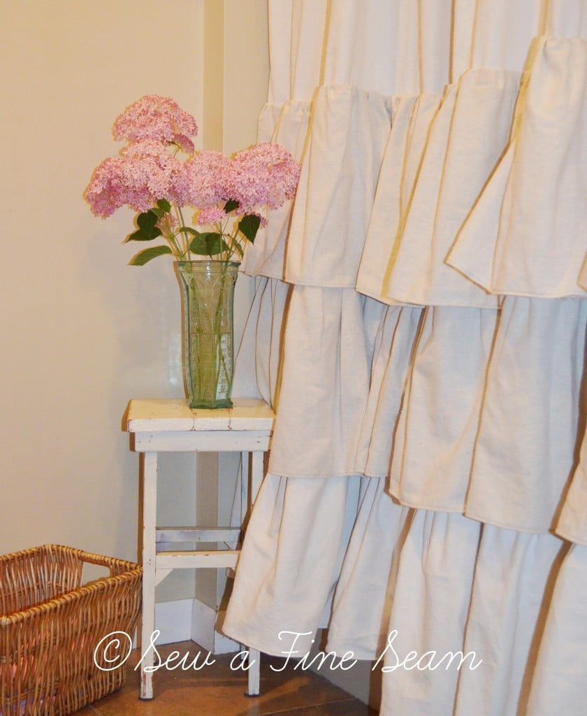 ruffled shower curtain 2