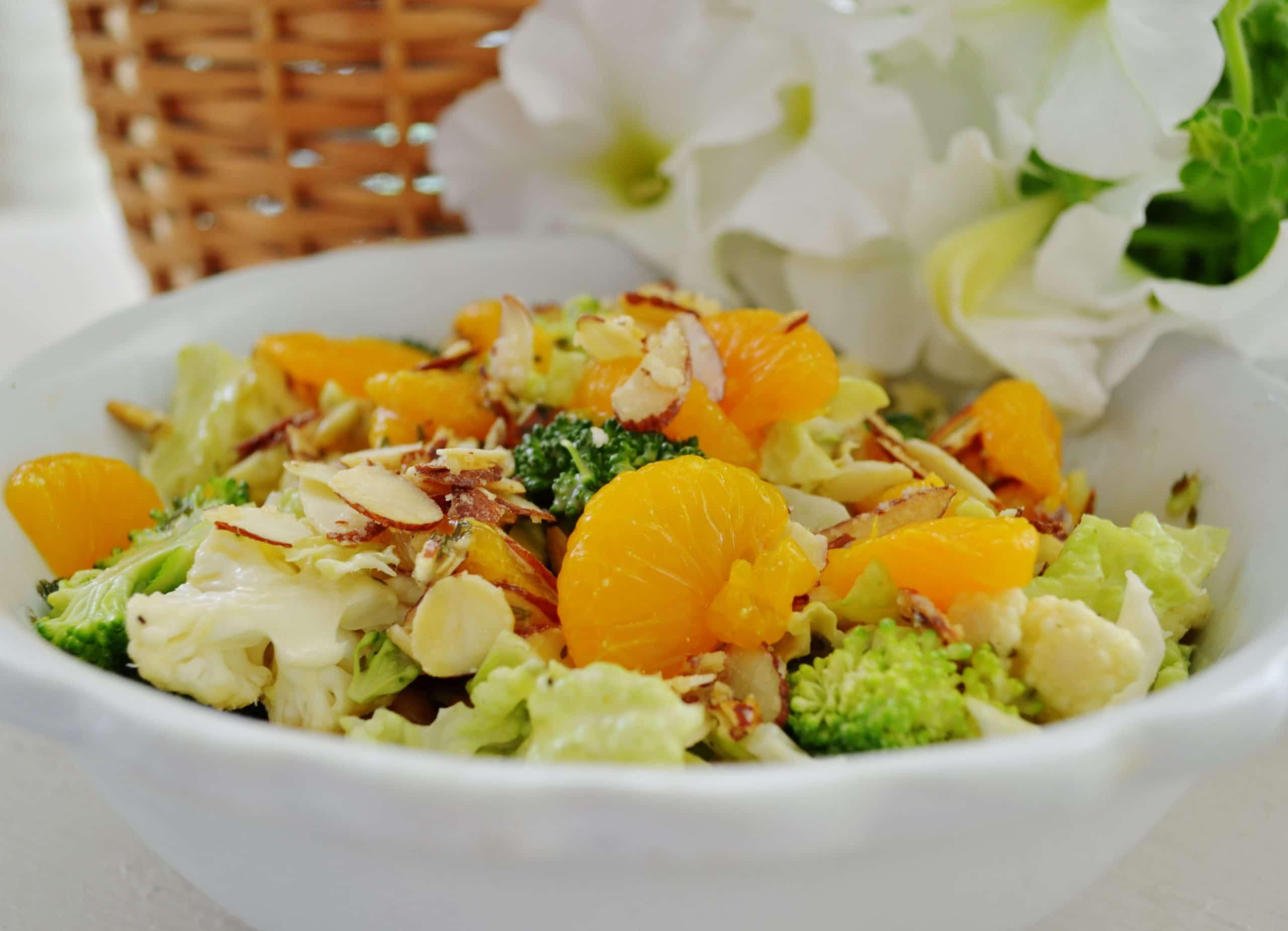 Nappa Broccoli Cauliflower Salad