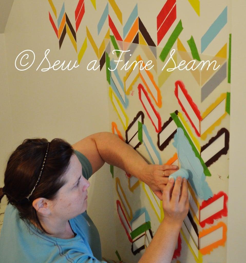 stenciled wall 6