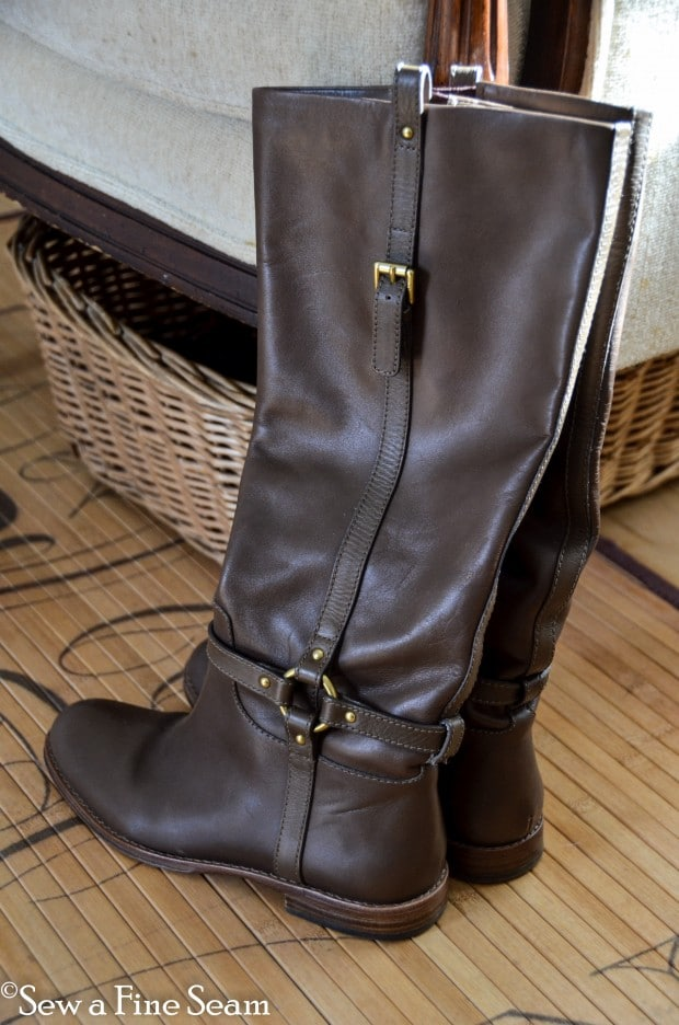 how to add an elastic gusset to tall leather boots