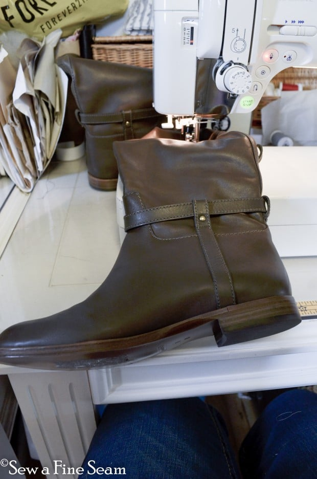 sewing elastic in tall boots