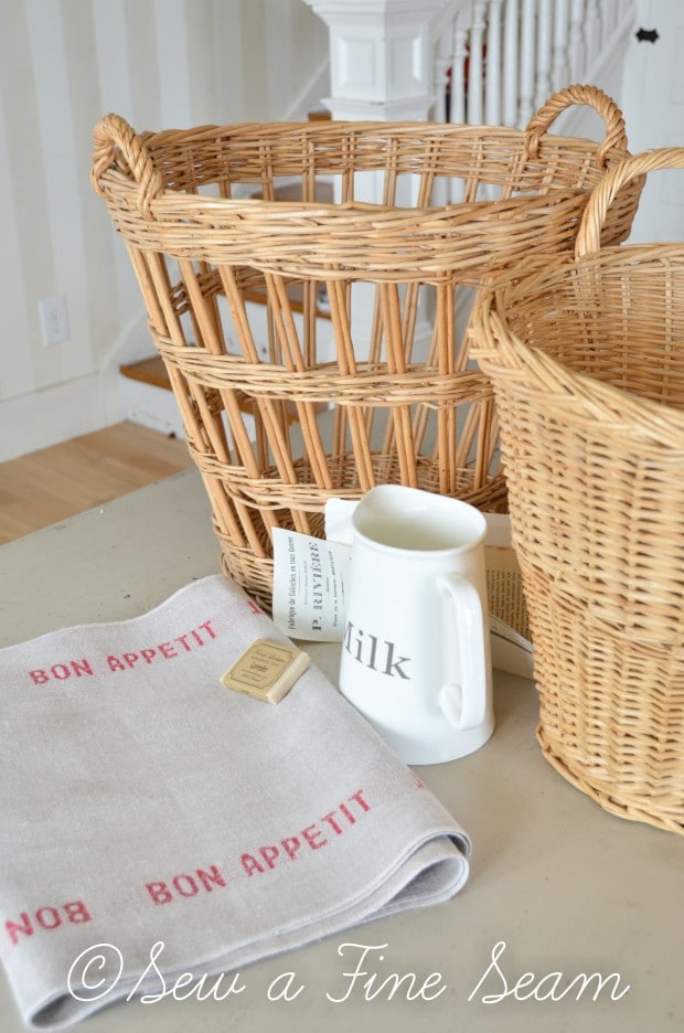 french linen baskets and milk pitcher-4