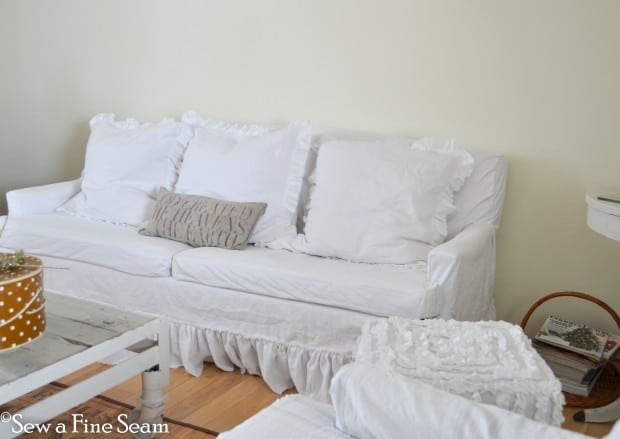 slipcovered sofa and chair-7