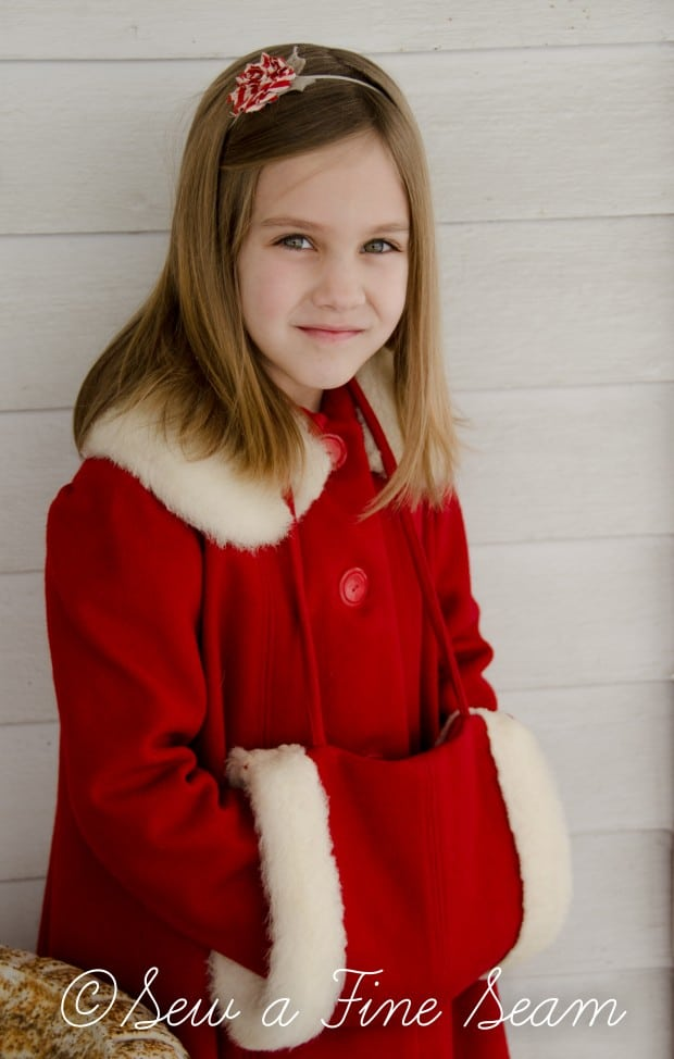red coat in the snow-1