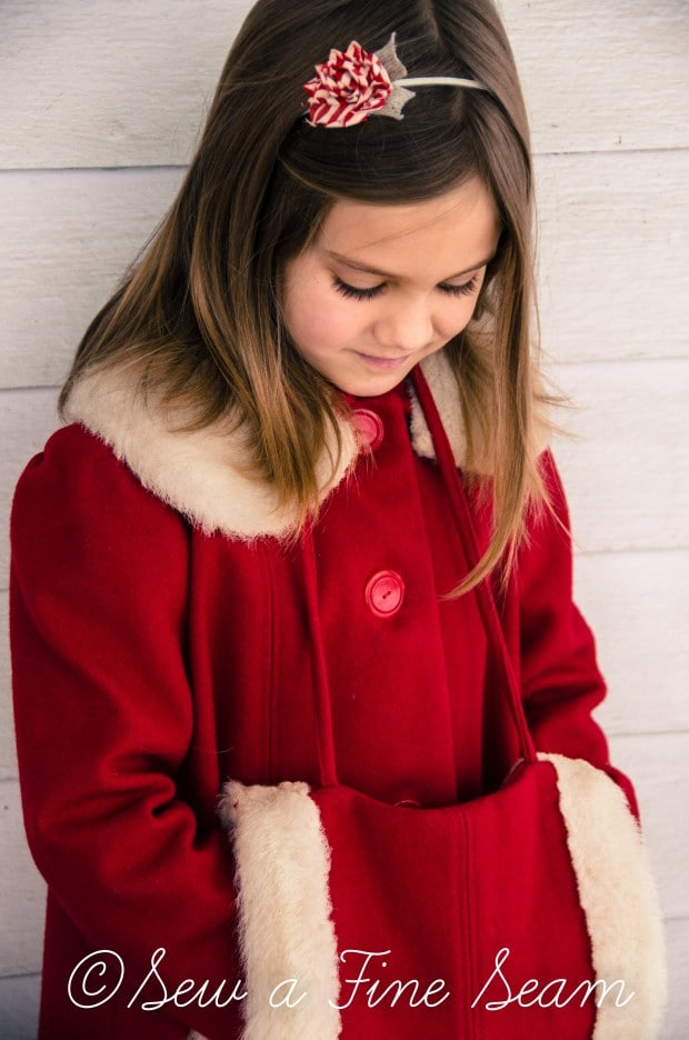 red coat in the snow-2