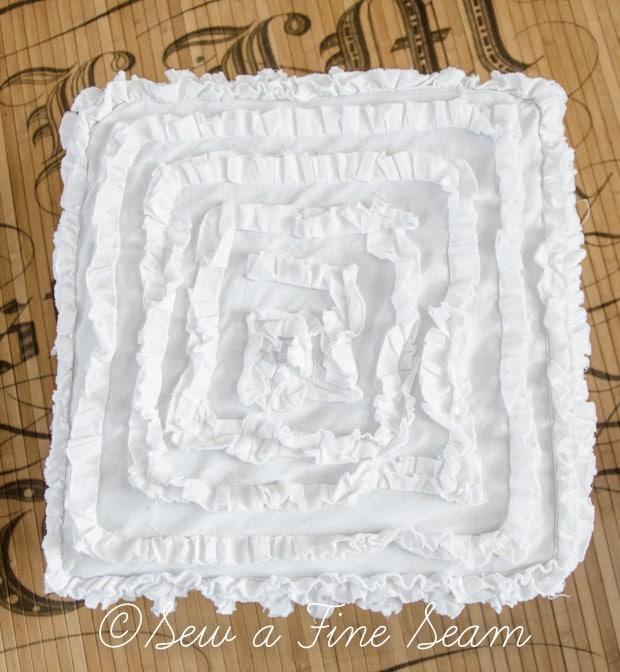 ruffled square ottoman-4