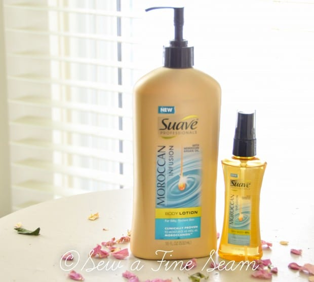 suave moroccan infusion lotion and oil