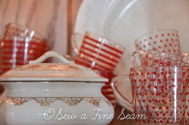 polka dots and stripes tea cups