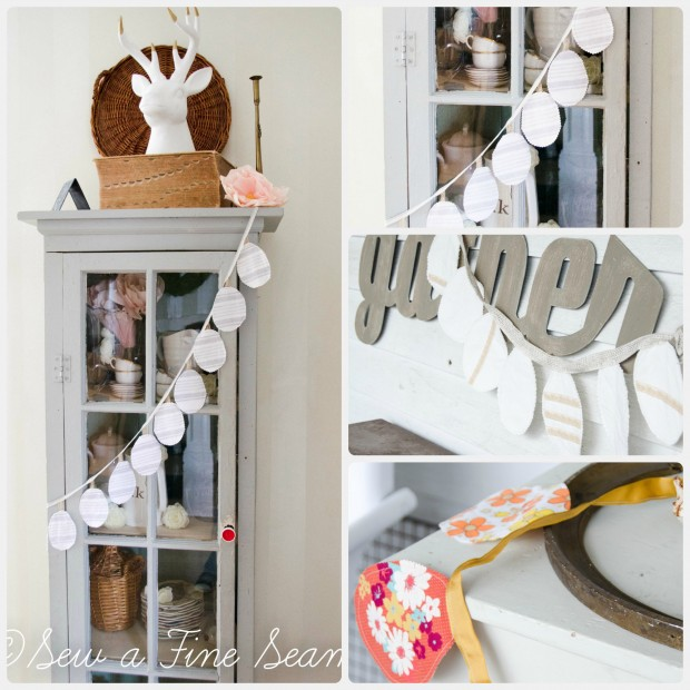diy easter pennant banner collage