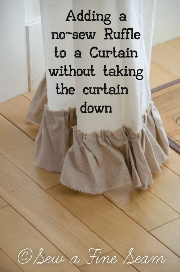 adding a ruffle to curtains-7 copy
