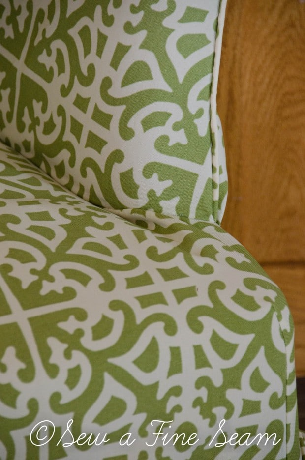 slipcoverd chair in sunbrella fabric-2