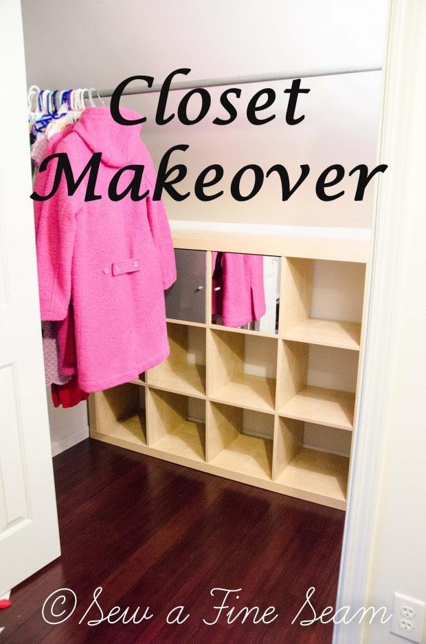 closet makeover - including a bit of an IKEA hack