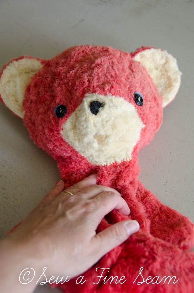 how to clean and restuff a vintage stuffed toy (17 of 28)