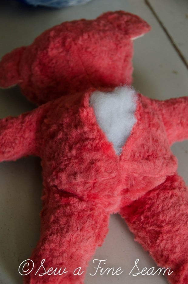 how to clean and restuff a vintage stuffed toy (18 of 28)