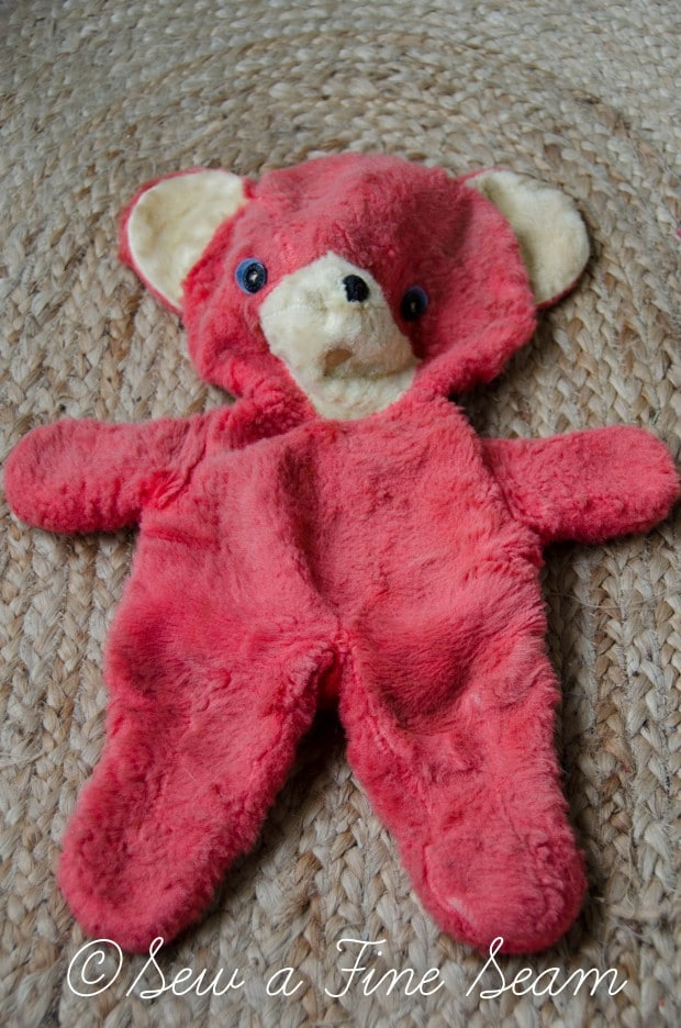 how to clean and restuff a vintage stuffed toy (6 of 28)
