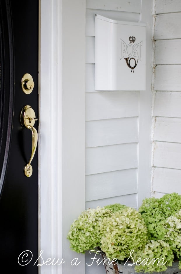 front door paint - black