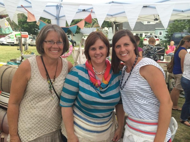 anne marcy and me at the summer market