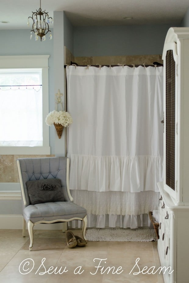 Ruffls And Lace Shower Curtain (18 Of 24)