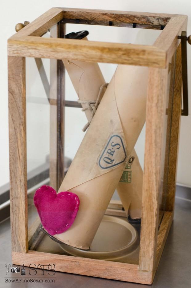 Valentine's Day handmade pink felt heart