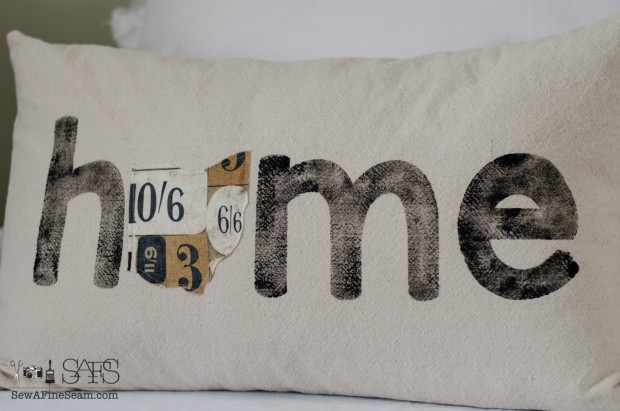 sew a fine seam pillow