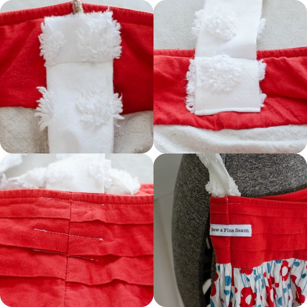 handles on skirt turned handbag