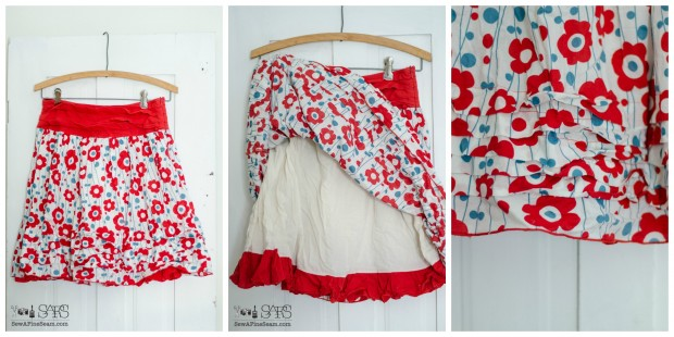 skirt turned handbag