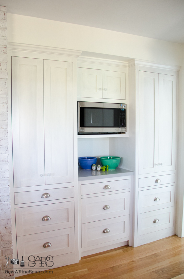 milk paint on custom kitchen cabinets