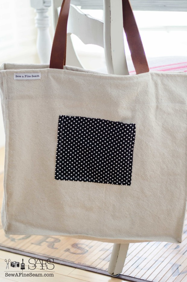 bing and national coffee brewers stenciled bag - stencils by Funky Junk Interiors