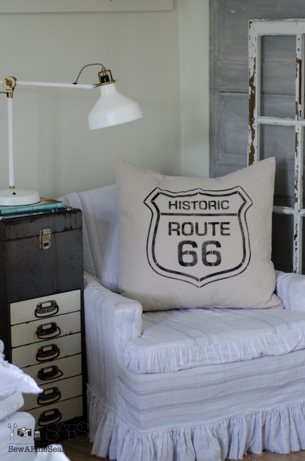 route 66 pillow feather filled
