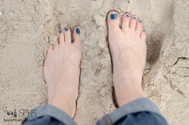 toes in the sand at the beac
