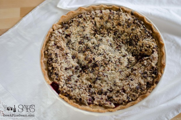 homemade organic cherry pie