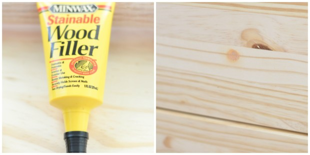 ikea rast hack - wood filler