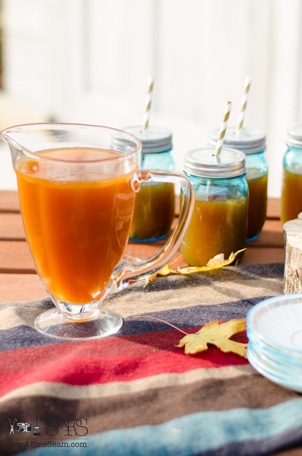 Fresh Pressed Apple Cider for a Fall Picnic