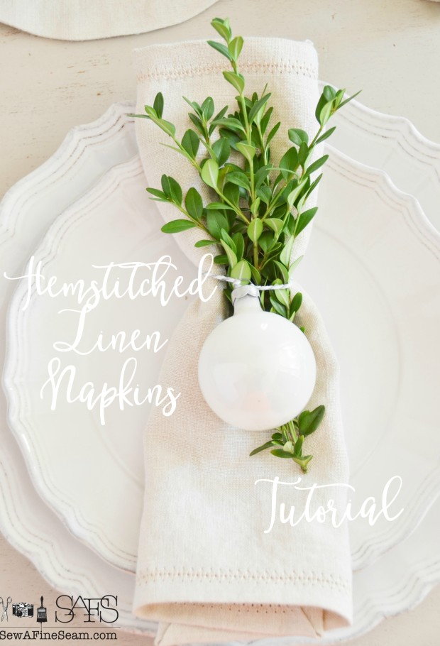 hemstitched napkin tutorial