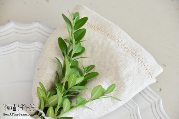 hemstitched napkins 2