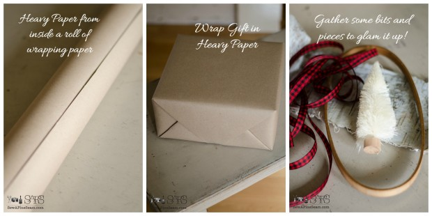 craft paper makes a great gift wrap and then detail it with fun elements
