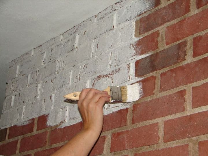 Annie sloan paint gives brick an update sew a fine seam for How to paint a wall with chalk paint
