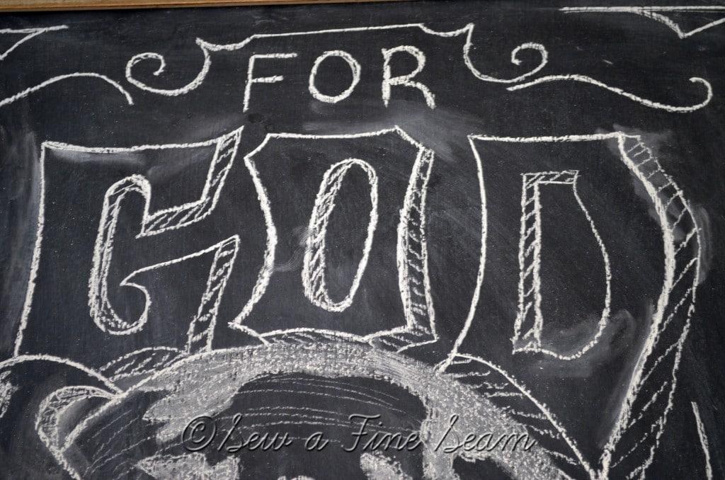 chalkboard art for christmas